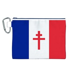 Flag Of Free France (1940 1944) Canvas Cosmetic Bag (l)