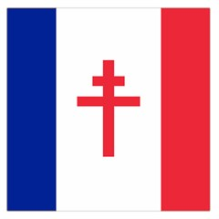 Flag Of Free France (1940 1944) Large Satin Scarf (square)