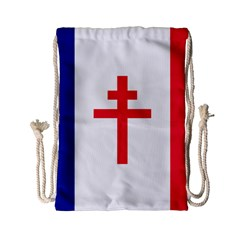 Flag Of Free France (1940 1944) Drawstring Bag (small)