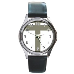 Cross Of Loraine Round Metal Watch