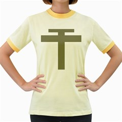 Cross Of Loraine Women s Fitted Ringer T Shirts