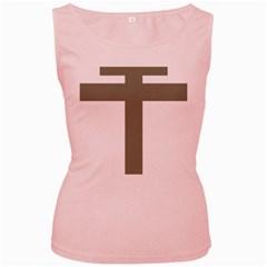 Cross of Loraine Women s Pink Tank Top