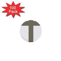 Cross Of Loraine 1  Mini Buttons (100 Pack)