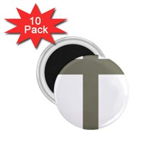 Cross Of Loraine 1 75  Magnets (10 Pack)