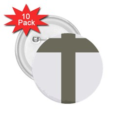 Cross Of Loraine 2 25  Buttons (10 Pack)