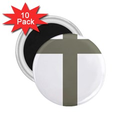 Cross Of Loraine 2 25  Magnets (10 Pack)