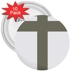 Cross Of Loraine 3  Buttons (10 Pack)