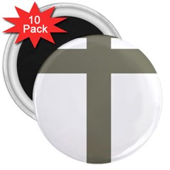 Cross Of Loraine 3  Magnets (10 Pack)