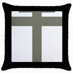 Cross Of Loraine Throw Pillow Case (black)