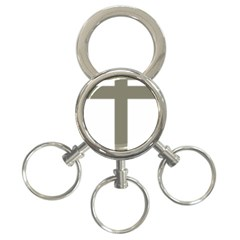 Cross Of Loraine 3 Ring Key Chains
