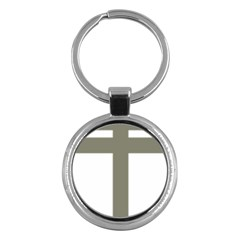 Cross Of Loraine Key Chains (round)