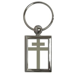 Cross Of Loraine Key Chains (rectangle)