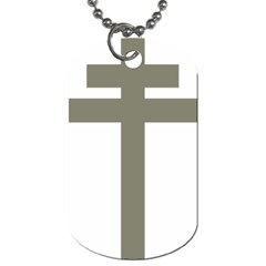 Cross Of Loraine Dog Tag (one Side)