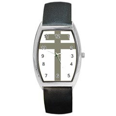 Cross Of Loraine Barrel Style Metal Watch