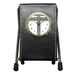 Cross Of Loraine Pen Holder Desk Clocks