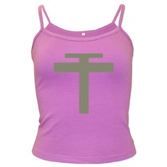 Cross Of Loraine Dark Spaghetti Tank