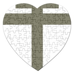 Cross Of Loraine Jigsaw Puzzle (heart)