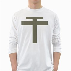 Cross Of Loraine White Long Sleeve T Shirts