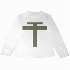 Cross Of Loraine Kids Long Sleeve T Shirts