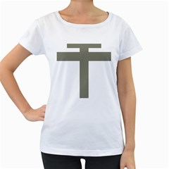 Cross Of Loraine Women s Loose Fit T Shirt (white)