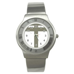 Cross Of Loraine Stainless Steel Watch