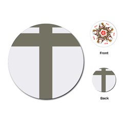 Cross Of Loraine Playing Cards (round)