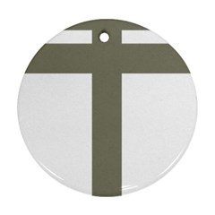Cross of Loraine Round Ornament (Two Sides)