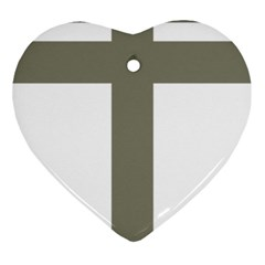 Cross Of Loraine Heart Ornament (two Sides)