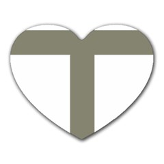 Cross Of Loraine Heart Mousepads