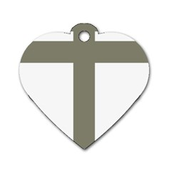 Cross Of Loraine Dog Tag Heart (two Sides)