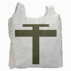 Cross Of Loraine Recycle Bag (one Side)
