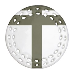 Cross Of Loraine Ornament (round Filigree)