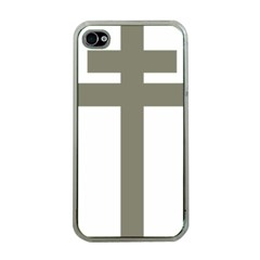 Cross of Loraine Apple iPhone 4 Case (Clear)