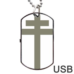 Cross Of Loraine Dog Tag Usb Flash (one Side)