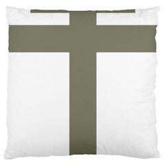 Cross Of Loraine Large Cushion Case (one Side)