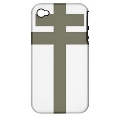 Cross Of Loraine Apple Iphone 4/4s Hardshell Case (pc+silicone)