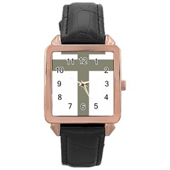 Cross Of Loraine Rose Gold Leather Watch