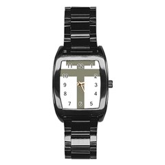 Cross Of Loraine Stainless Steel Barrel Watch