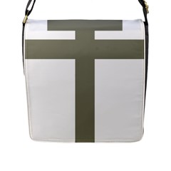 Cross Of Loraine Flap Messenger Bag (l)