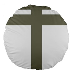 Cross of Loraine Large 18  Premium Flano Round Cushions