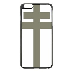 Cross Of Loraine Apple Iphone 6 Plus/6s Plus Black Enamel Case