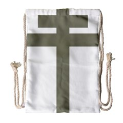 Cross Of Loraine Drawstring Bag (large)
