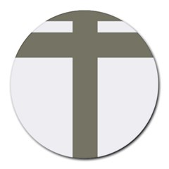 Cross Of Lorraine  Round Mousepads