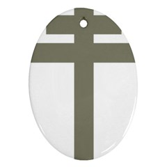 Cross Of Lorraine  Ornament (oval)
