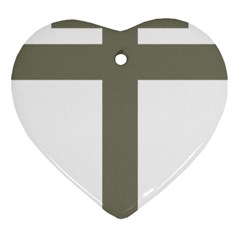 Cross Of Lorraine  Ornament (heart)