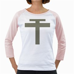 Cross Of Lorraine  Girly Raglans