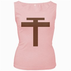 Cross Of Lorraine  Women s Pink Tank Top