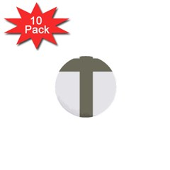 Cross Of Lorraine  1  Mini Buttons (10 Pack)