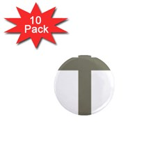 Cross Of Lorraine  1  Mini Magnet (10 Pack)