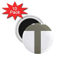 Cross of Lorraine  1.75  Magnets (10 pack)